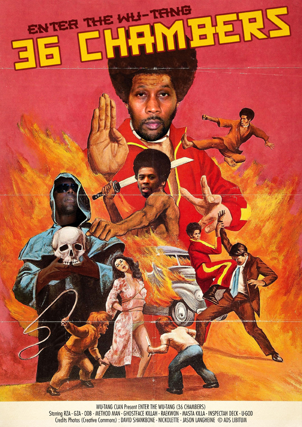 Popular Music Made Into Old School Movie Posters - Wooder Ice