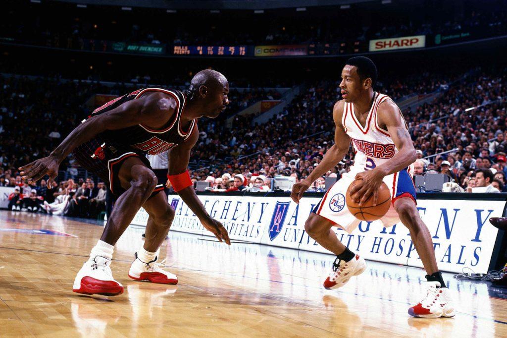 Iverson faces off against Jordan