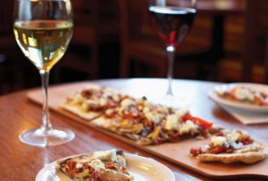 wine-and-flatbread-pizza