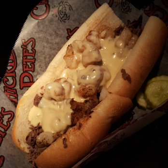 The lobster cheesesteak at Chickie's and Pete's. Photo via Yelp