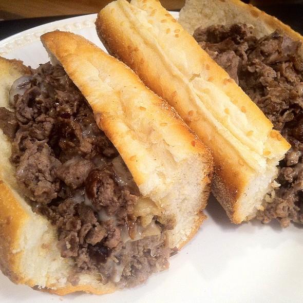 The garlic bread cheesesteak at Santucci's. Photo via foodspotting