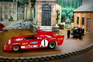 Simeone Museum displays all of their cars in cool exhibits relating to the car's history