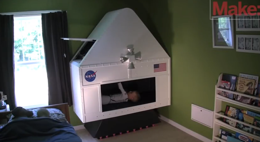 Dad of the Year Builds His Sons a NASA Spaceship Simulator