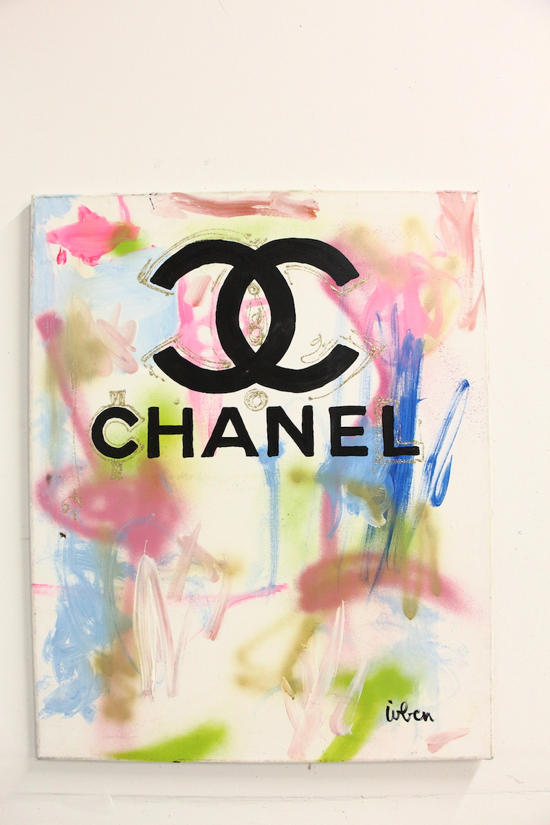 Chanel painting 2 c 39 s wooder ice for What paint for canvas