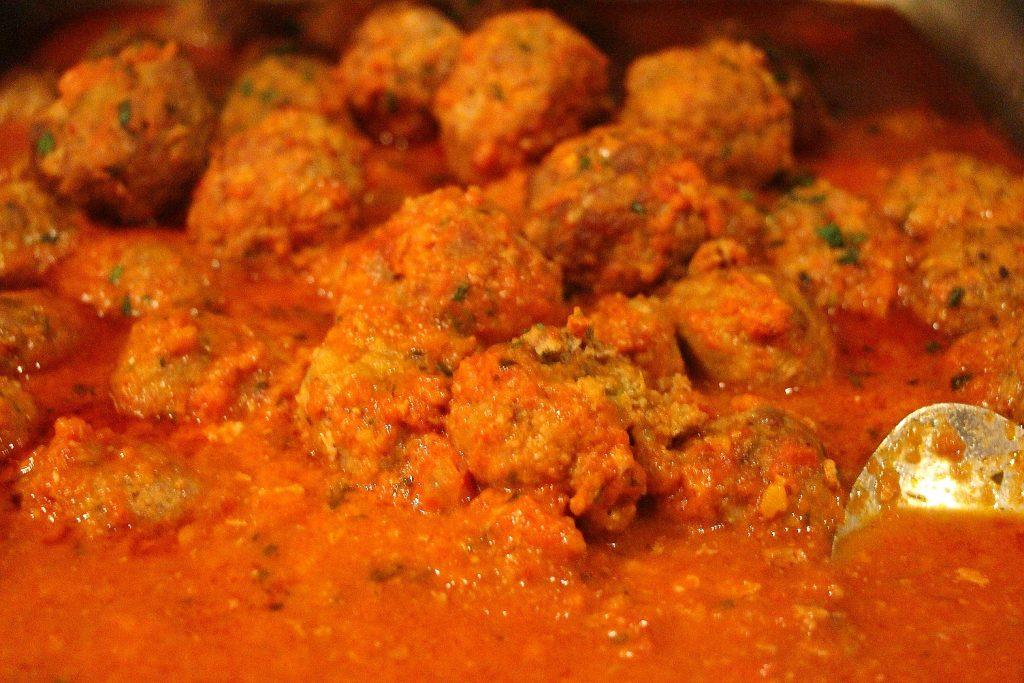 spicy pork meatballs