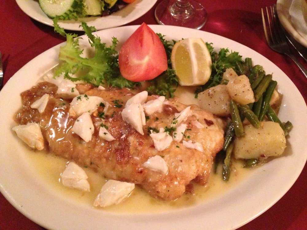 Breaded Flounder & Crab Meat (image via Yelp)