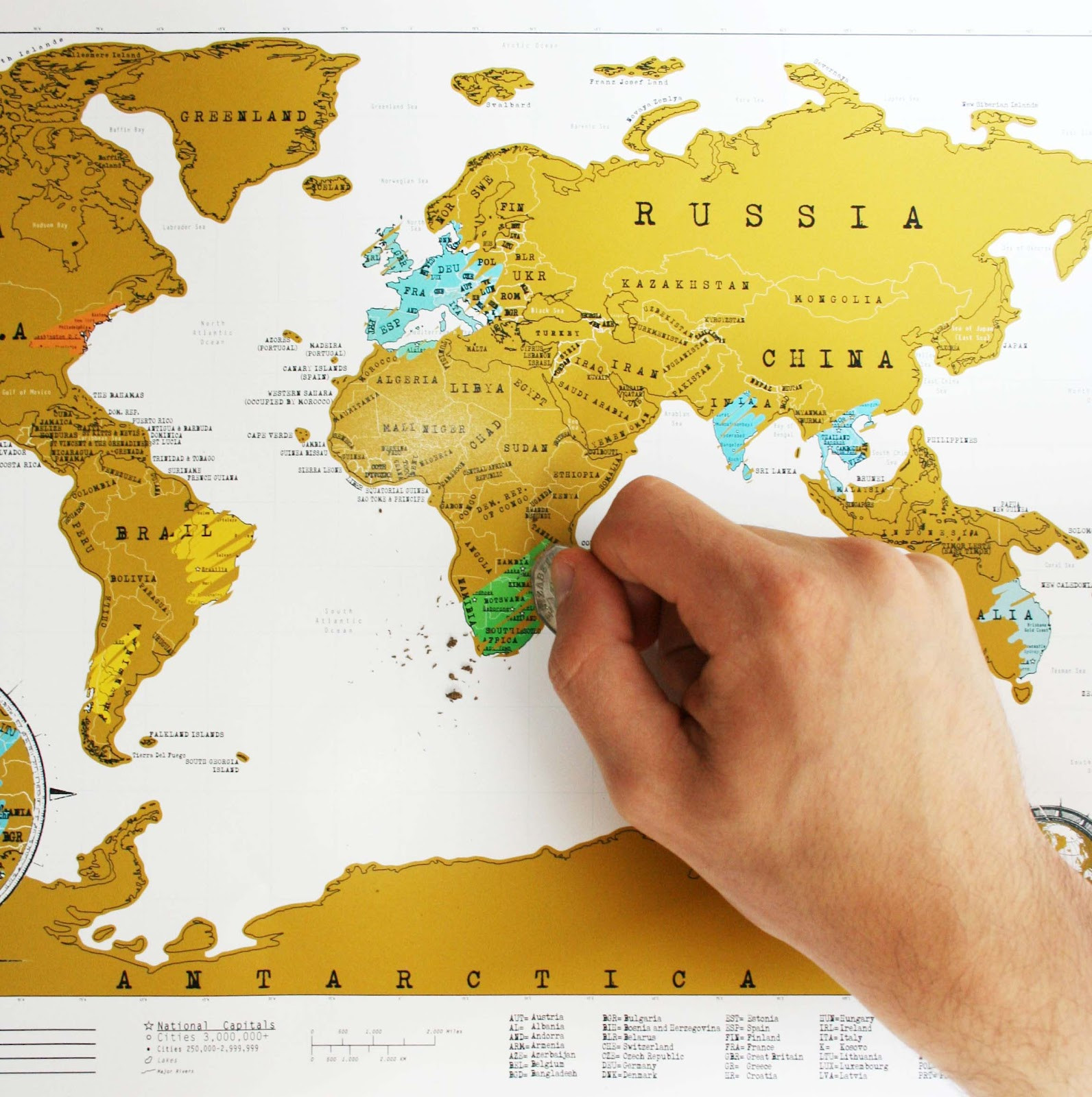 8 best travel gifts for the wanderlust person in your life wooder ice scratchable world map image via mapworld publicscrutiny Images