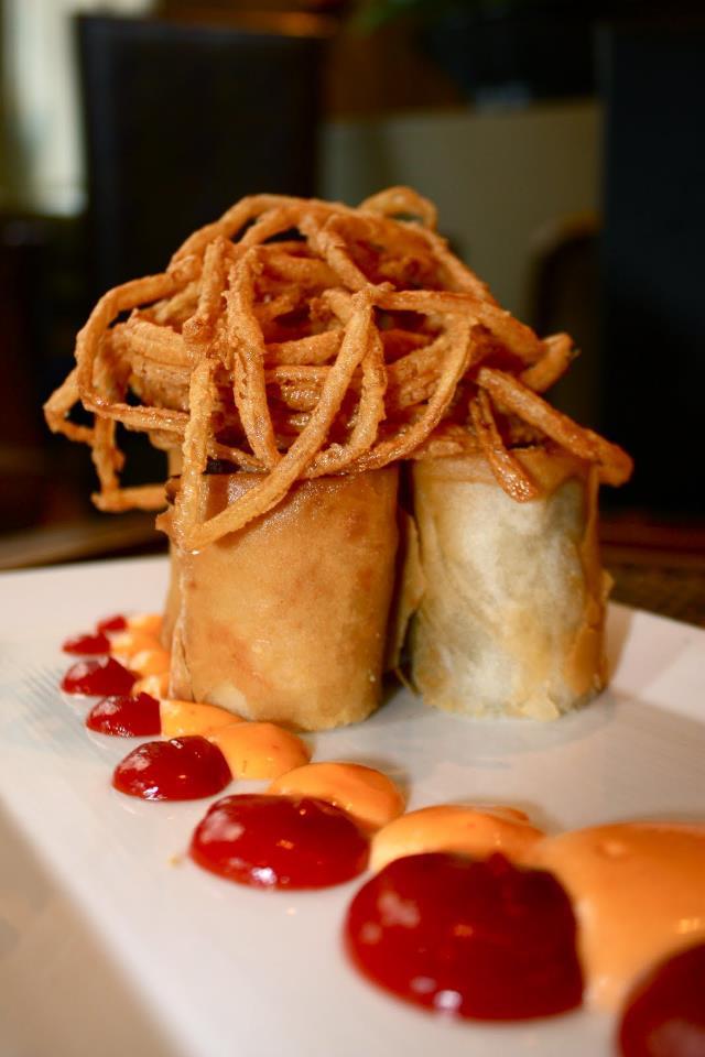 The Philly cheesesteak spring rolls at Davio's. Photo via Davio's