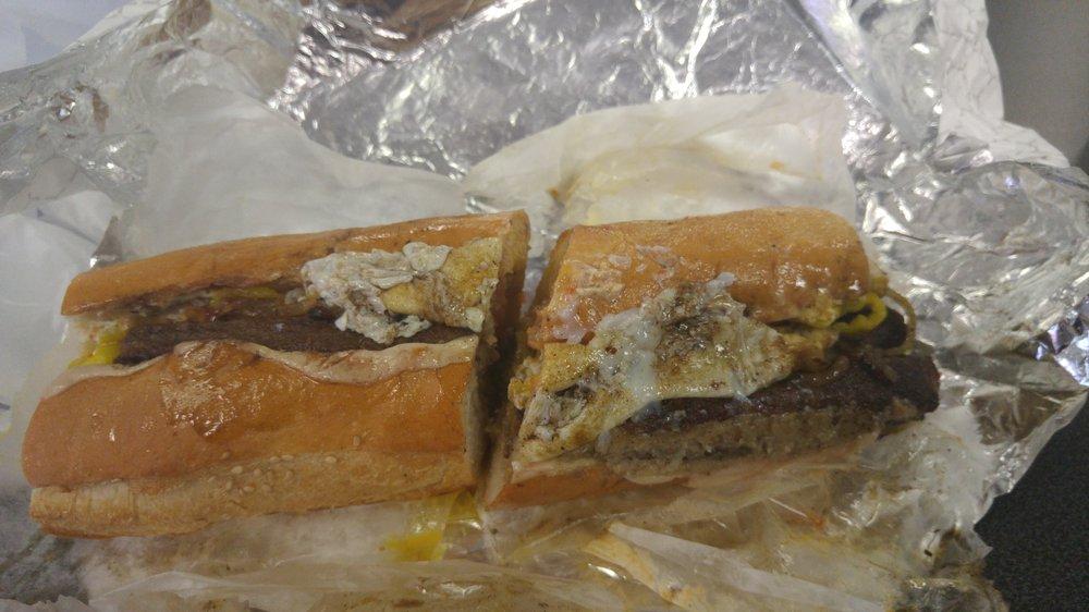 The scrapple cheesesteak at Paesano's. Photo via Yelp