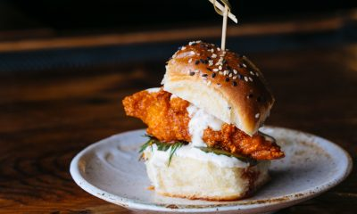 Fat Ham Caviar Hot Chicken Slider