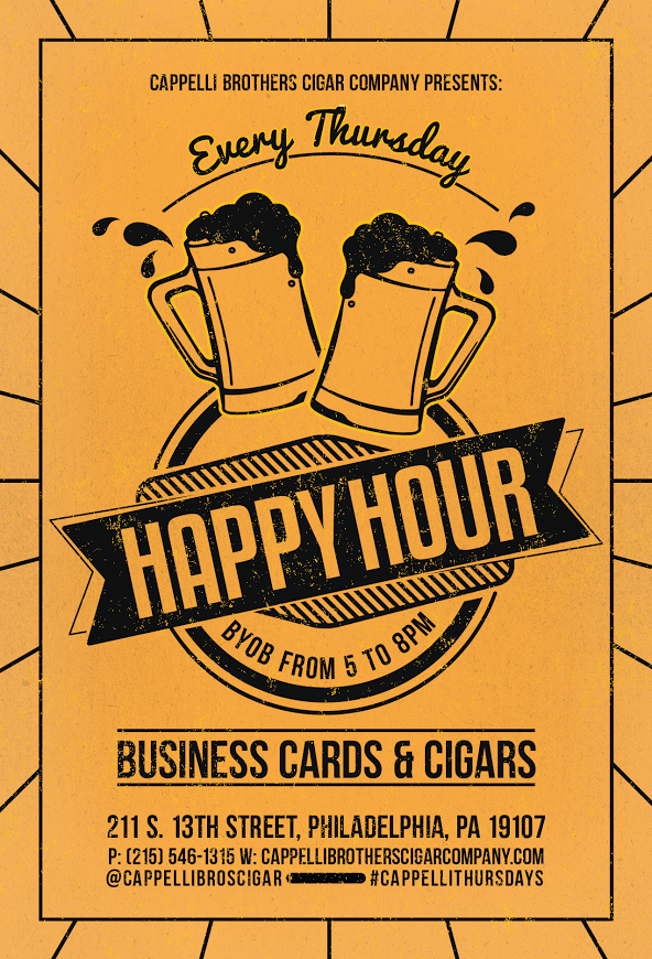 Business Cards & Cigars at Cappelli Brothers - Wooder Ice