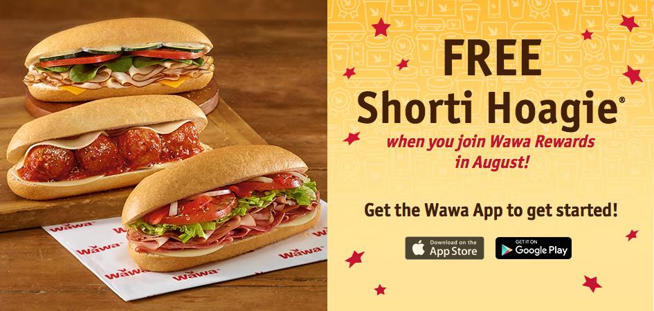 Free Wawa Shorti Hoagie