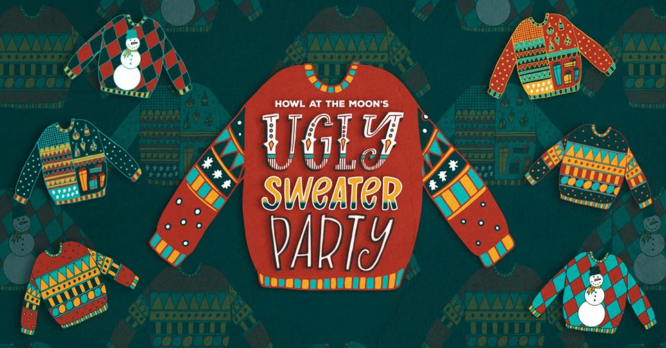 ugly sweater howl at the moon