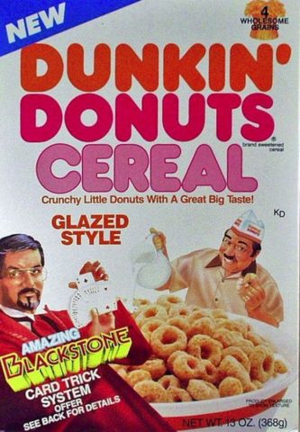 dunkin donuts cereal