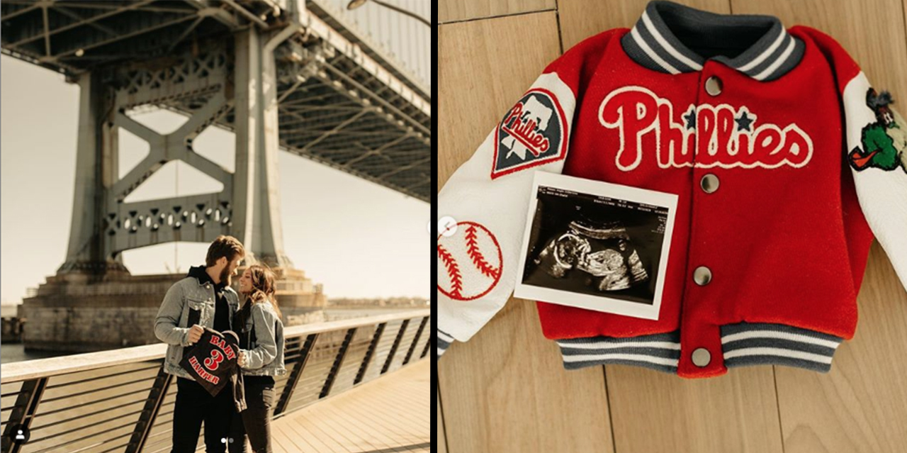 the latest 5de03 1c111 ICYMI: Bryce Harper and Wife Kayla are Welcoming a Baby ...