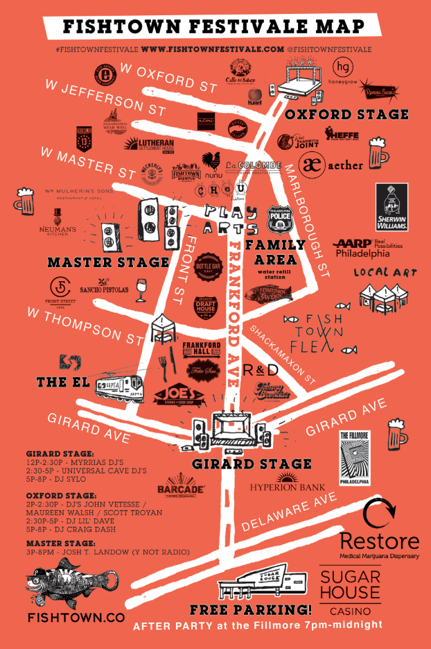 fishtown FestiVALE map