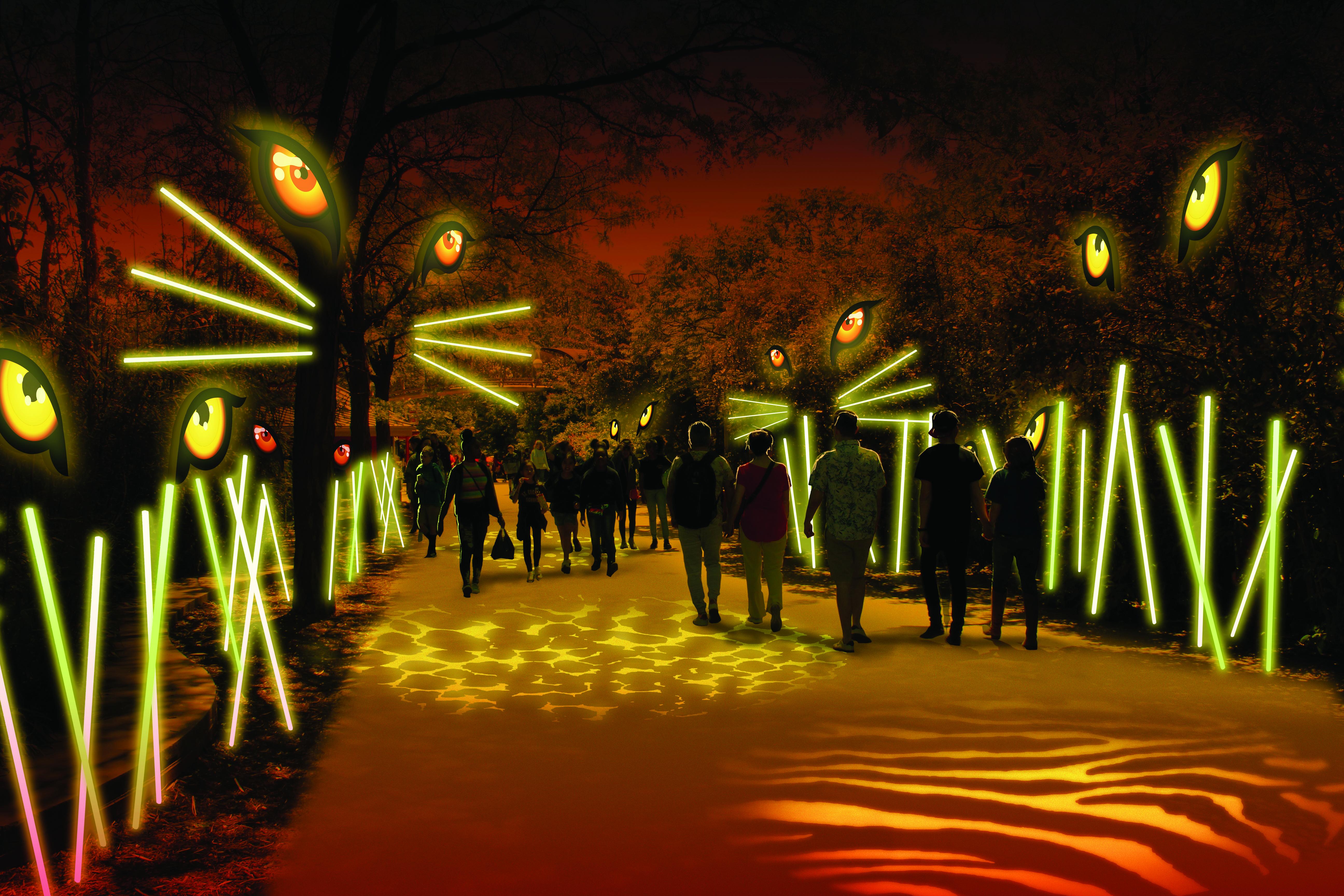 Philadelphia zoo light show2